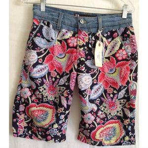 Stone Craft Floral Bermuda Shorts